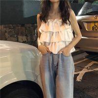 Bahar 2020 Yeni Giyim Kek Fransız Slim Fit Kısa Seksi Off-Omuz Kek Kaşkorse Kadın Giyim