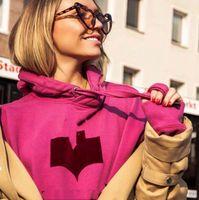 Мода-пуловерные толстовки Изабель толстовки женский кардиган женщины свитер повседневная роскошь логотип уличная одежда из хлопковых толстовок Топы HFLSWY213
