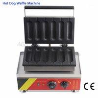 Costruzione di salsiccia Macchina da cottura commerciale Maker in acciaio inox Lolly Waffle Maker con 6 moulds1