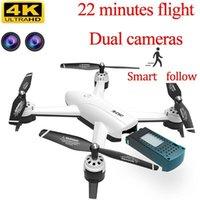 RC بدون طيار 4K مع HD كاميرا 22 دقيقة الرحلة 1080P الطائرات بدون طيار الاطفال البث تسيطر على مروحية تحلق طائرات هليكوبتر 6ch drone تابع me11
