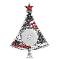 المفاجئة المجوهرات عيد الميلاد ثلج شجرة المفاجئة زر قلادة قلادة تناسب 20 ملليمتر 18 ملليمتر أزرار المفاجئة قلادة diy acc jllwmf