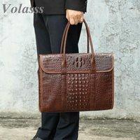 """13.3 """"sacos de laptop para malas de luxo masculino malas de couro genuíno bolsa de maleta para homens documentam os sacos do escritório do homem do homem"""