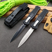 BM 3310 CNC 6061 알루미늄 블랙 핸들 D2 양방향 블레이드 자동 칼 벤치 메이드 칼 캠핑 야외 도구 BM 3300 3400