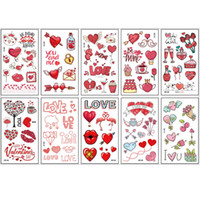 10pcs 어린이의 집합 임시 문신 다양 한 패턴 아이들을위한 만화 가짜 문신 스티커 스티커