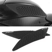 Мотоцикл Тяги для бака Боковая прокладка Газовый Топливный Коленый Сервис Протектор для YZF R6 YZF-R6 2020 2020 Черный / Белый1