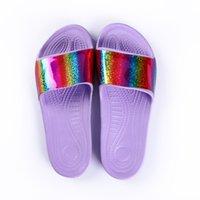 Высокое качество Мода Главная Сандалии EVA Женщины Крытый Лазерные Тапочки для ванной комнаты могут быть настроены на фабричном выходе