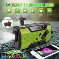 Radyo Leory Güneş Dijital Krank Acil AM / FM / WB Noaa Hava Taşınabilir Panel Şarj Edilebilir Güç