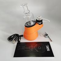Soc concentrar vaporizador de cera caneta kits kits 2600mAh vape mods controle de temperatura atomizador 4 configurações de calor shatter budder cabber equipamento
