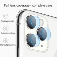 2.5D Kamera Temperli Gözlük Arka Lens Anti Scratch Fiber Ekran Koruyucu Film iphone 12 Mini 11 Pro XS Max XR x 8 7 Perakende Kutusu