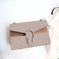 أعلى جودة إمرأة محفظة ديونيسو صغير النمر رئيس إغلاق جلد طبيعي إلكتروني طباعة سلسلة رفرف حقيبة الكتف الأكياف à bandoulière de luxe