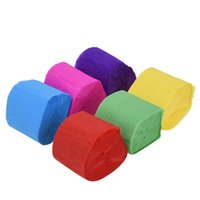 9m Mode Coloré Crêpe Papier Streamer Ruban Ruban De Mariage Anniversaire Fournitures Festives Décorations de Noël 0 4FB UU