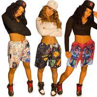 Mujeres diseñadores Ropa 2021 Pantalones cortos Spring Spring Spring Street Hip Hop Style Estilo Impresión de dos piezas Pantalones para la moda XL Impresa