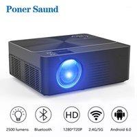 Poner Saund W2 Proyector HD Mini 4 K Projektörü 1280x720 P Tam HD LED Android WiFi Projektör Ev Sinema 3D Film Oyun1