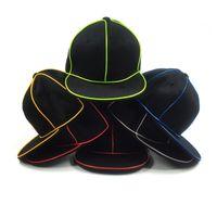 LED الهيب هوب القبعات رجل تصميم قبعة بيسبول الكلاسيكية الشمس قبعة جولف الخريف الشتاء عيد للحزب