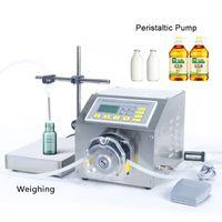 Dhl kostenlos! Halbautomatische Milch Tinte Getränke Parfüm Lotion Shampoo Wägenfüllmaschine Peristaltic Pumpe Phiole Flaschenfüller 30ML-6L