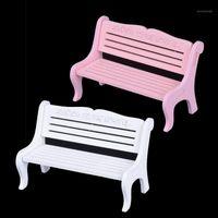 Oggetti decorativi figurine 1 pz bianco rosa mini banco fata bambola sedie a terrarium muschio decorazione giardino miniatures micro paesaggio accessori