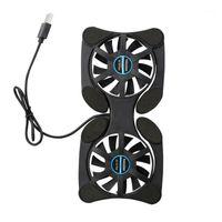 Dizüstü Soğutma Pedleri Yüksek Hızlı Taşınabilir Dizüstü Soğutucu Katlanabilir Fan USB Sessiz Radyatör Kırmızı Pembe Gri Mavi Green1