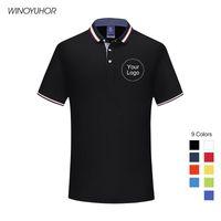 Erstellen Sie benutzerdefinierte Hemden für Unternehmen Teamgruppe Uniform Hohe Qualität Druck Eigene Logo Text Männer und Frauen Polos Top Plus Größe