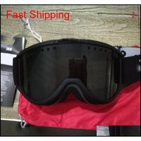 نظارات التزلج، المهنية المضادة للضباب عدسة مزدوجة UV400 كبير كروي للرجال والنساء نظارات التزلج على الجليد نظارات SKI-JING-01 J9SDB