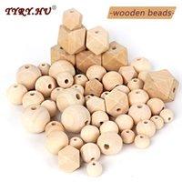 Tyry.HU cuentas de madera Beech Teether Beads Haciendo Pulsera Chapifier Cadena Accesorios para niños Madera Pequeño Rod Baby Teether Toys1