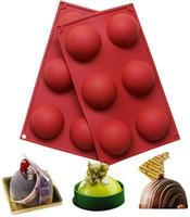 الكرة المجال سيليكون قالب الكعكة المعجنات الخبز الشوكولاته الحلوى فندان خبز جولة شكل الحلوى العفن diy تزيين fwe3152