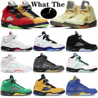 Kutu 5 ile Ne Yangını Kırmızı 5 S Erkek Basketbol Ayakkabıları Muslin Siyah Beyaz Üzüm Taze Prens 13s Flint Spor Sneakers Kupa Odası