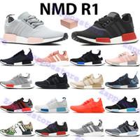 أحذية ركض رخيصة NMD R1 الرجال النساء أحذية رياضية أوروبا حصرية أسود الخوخ الثلاثي الشمسية الأحمر الأبيض بلانش الأزرق توهج رجل chaussures