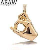 AEAW Benutzerdefinierte Hiphopjjewelry Rapper Schmuck Hand Moissanit Anhänger Feste 10k Weißgold oder S925 Silber