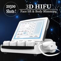 Профессиональная 9D 3D Hifu Машина для лица Лифт кожи Утяженая высокая интенсивность Фокусированное Ультразвуковое оборудование красоты SPA Используйте Удаление морщин против старения