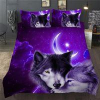 3D Duvet Quilt Cover Set Wolf Animal Print Bedding Set Single Double Twin volledige Queen King Size Bed linnen voor kinderen Kid volwassenen 201210