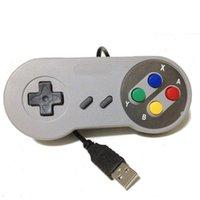 Новый Классический USB Контроллер ПК Контроллеры GamePad JoyPad Джойстик Замена для Super Nintendo SF для Snes Nes Tablet PC Lawindows Mac DHL
