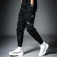 패션 디자이너 Streetwear Mens 멀티 포켓 카고 하렘 바지 힙합 캐주얼 남성 트랙 바지 조깅 바지 패션 하라주쿠 남성 바지