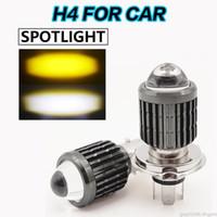 1 peça h4 led farol carro mini projetor lente holofotes para a cidade de jazz