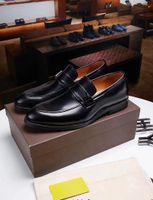 18ss Tasarımcılar Yüksekliği Artan 6 cm Erkekler Elbise Ayakkabı Bölünmüş Deri Oxford Ayakkabı Kahverengi Siyah Düğün Iş Ayakkabıları Erkekler