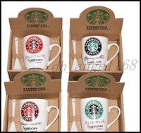 Caldo Ultime 1400ml Starbucks Coppa in ceramica Coppa creativa tazza ceramica 5 Stili Tazza di caffè Tazza di latte con cucchiaio libero