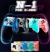 En Kaliteli Kablolu N-1 Xbox One Denetleyici Gamepad Hassas Başparmak Joystick Gamepad Xbox One XSX Konsolu için Uygun Host 5 Renkler Stokta