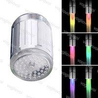 Светодиодный водопроводный кран Света 7 Цвета Изменение света Светодиодная вода Света Светодиодный Душ Изменение Цветной Свет для Кухонной ванной EPACKET