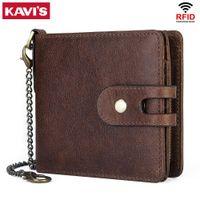 Kavis جديد محفظة صغيرة الرجال مجنون الحصان محافظ عملة محفظة جودة قصيرة الذكور حقيبة المال ريفد البقر بطاقة محفظة cartera الأولاد