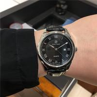 Pablo Raez Moda Couro Homem Assista Calendário Luxo Estilo Casual Quartz Data Montre Reloje de Marca Business Simples WristWatch Dropshipping