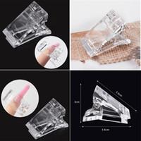 10pcs / set transparent Conseils ongles Clips Ensembles doigts Poly rapide UV Gel de construction Poly Extension Clamp acrylique Outils de manucure