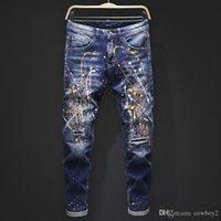 Männer 2021 Top Luxus Designer Jeans Enge Klassische Diesel Auto Square Jeans Rock Renaissance Männer Jeans Rock Revival Biker Diesel Männer