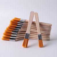 Pennello di vernice di nylon di alta qualità Dimensione differente Manico in legno Manico in legno Pennelli per acrilici per pittura ad olio acrilica Forniture di arte della scuola DBC 28 G2