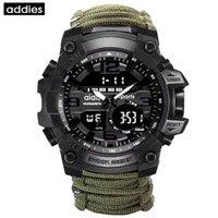 Addies Homens Esportes Assista Bússola Multifuncional Relógio Impermeável Ao Ar Livre LED Watches Exército Digital Relogio Masculino 201212