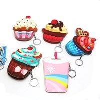 Mini Mini Cupcake Femmes Portefeuilles Pour Girls Coin Pourse Creative Dessin animé Clé Chaîne Cuisine Titulaire de la carte Crème Ice Cream Prix Cadeau L2018-0004