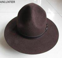 Breite Krempe Hüte Männer Wolle Fedoras Hut Männliche Einzelne Drei Loch Wollkappe Australische Fedora Mode Unisex Panama Jazz B-8124