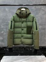 2020 Przypadkowe zamki z kapturem zimy kaczki w dół kurtka mężczyźni moda grube ciepłe męskie wyściełane kurtki Solidne proste Jaqueta Masculina Mo