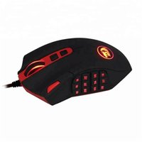 Redragon M901 Kired Gaming Mouse MMO RGB LED Backlit Ratones 12400 DPI Perdition con 18 botones programables Tuning de peso para Windows PC Gami