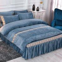 الفاخرة الملك الحجم مجموعة مفروشات القطن لينة السرير غطاء وسادات التوأم نوم الفراش مجموعة Juego de cama المنسوجات المنزلية DB60CD
