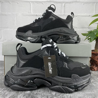 2021 Paris Casual Scarpe Triple-S Cancella Sole Trainer Dad Shoe Sneaker Sneaker Nero Green Crystal Bottom Mens Womens Quality Quality Chaussures