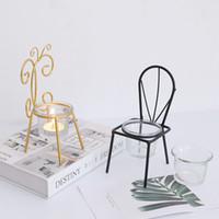 Sedia a forma di candela stand compleanno anniversario romantico portacandele titolare puntelli tavola tealight candela stand decor